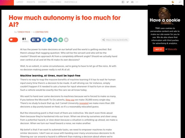 How much autonomy is too much for AI?