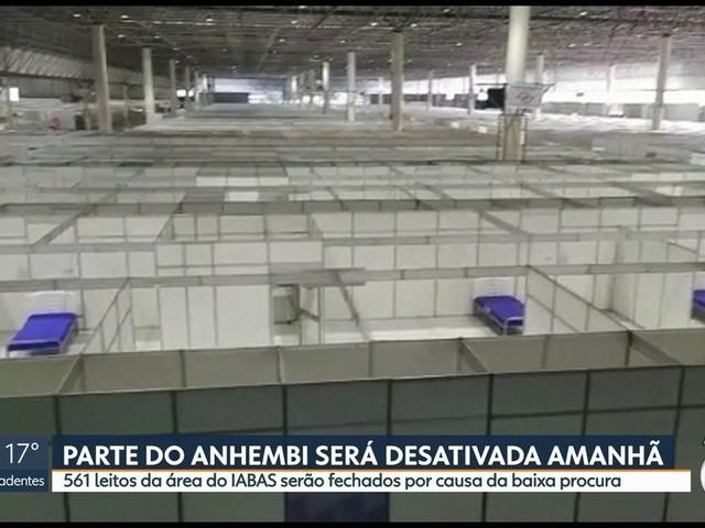 Prefeitura de SP desativa maior parte de leitos do Hospital de Campanha do Anhembi neste sábado