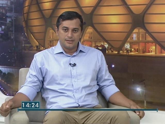 Wilson Lima é entrevistado no Jornal do Amazonas 2ª edição