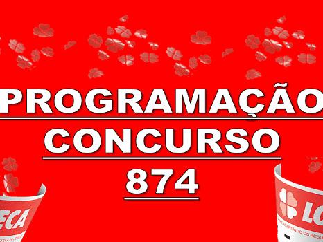 Loteca 874 programação grade dos jogos