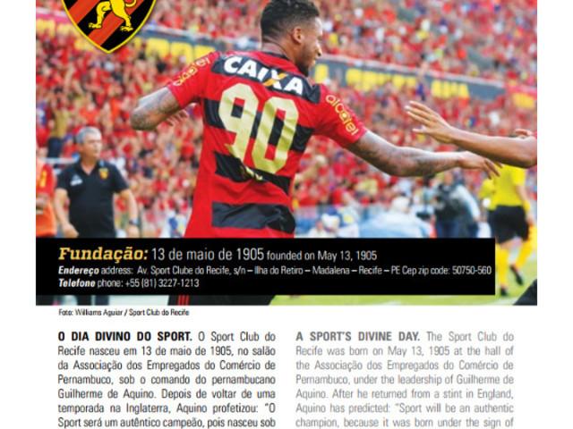 Sport, Santa, Náutico e Salgueiro no Guia Oficial do Campeonato Brasileiro de 2017