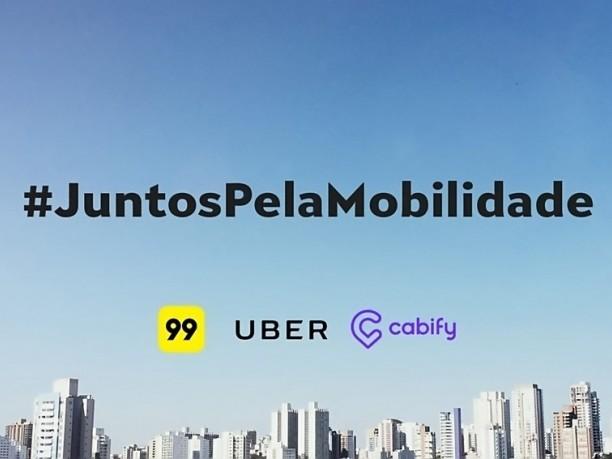 Uber, Cabify e 99 se unem contra projeto que regulamenta apps de transporte