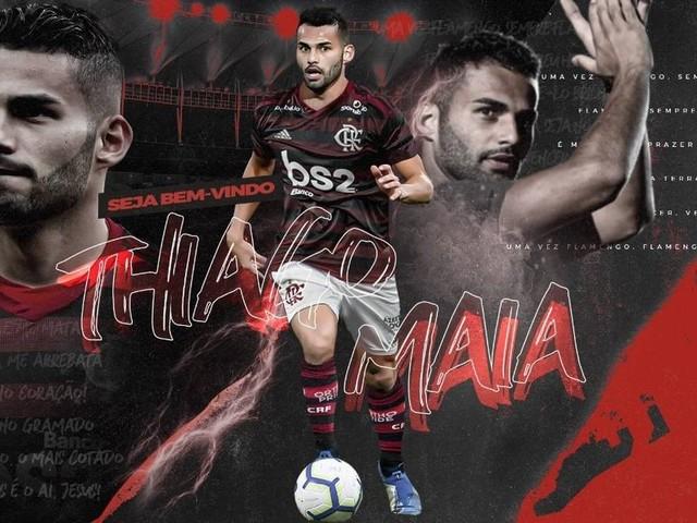 Flamengo anuncia a contratação de Thiago Maia: 'Veio realizar o sonho de vestir o manto'