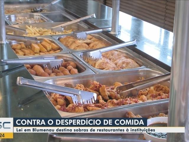 Blumenau faz lei municipal similar a lei estadual para incentivar restaurantes a doarem alimentos