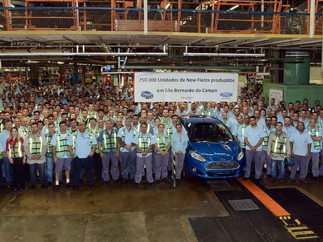 Ford New Fiesta chega a 250 mil unidades produzidas no Brasil