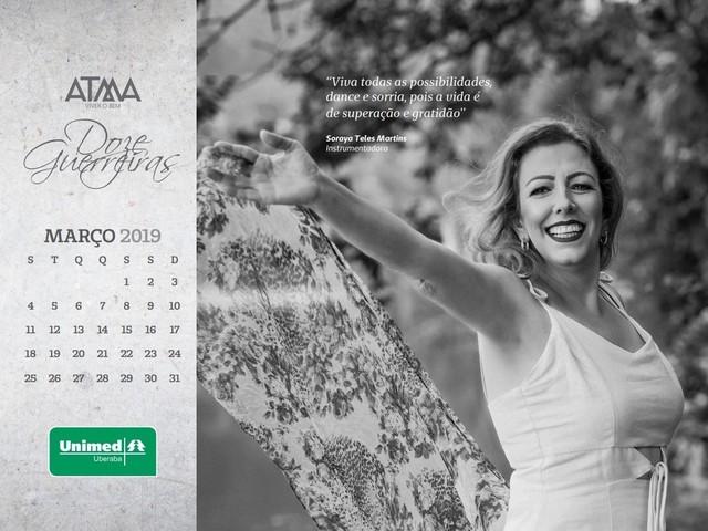 Com mensagens de motivação, mulheres que lutam ou venceram o câncer estampam calendário 'Doze Guerreiras' em Uberaba