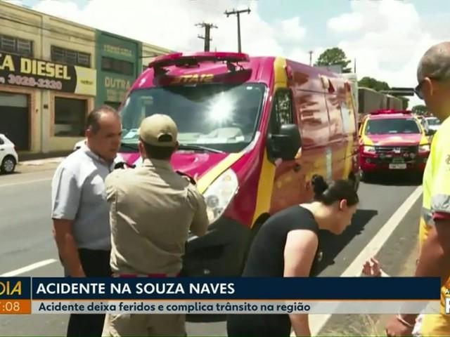 Cinco pessoas ficam feridas em atropelamento na Avenida Souza Naves, em Ponta Grossa