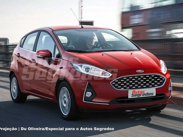Projeção: Ford Fiesta reestilizado muda para-choque e nada mais