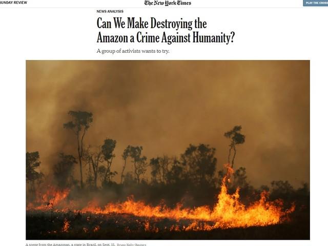 Brasilianismo | Destruir Amazônia: crime contra humanidade