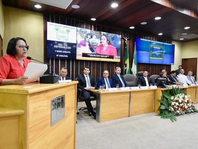 Em leitura de mensagem na Assembleia, governadora do RN anuncia projeto de teto de gastos