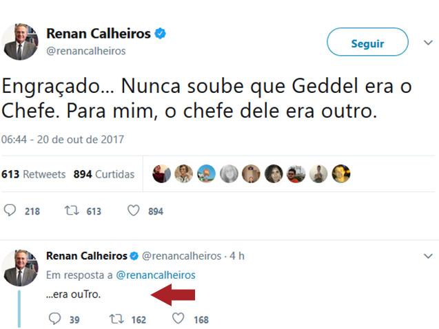 Renan, quem era o chefe do Geddel?