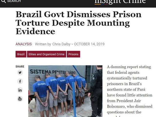 Sobre presídios no Pará | Chamar tortura de 'besteira' é precedente preocupante, diz instituto internacional