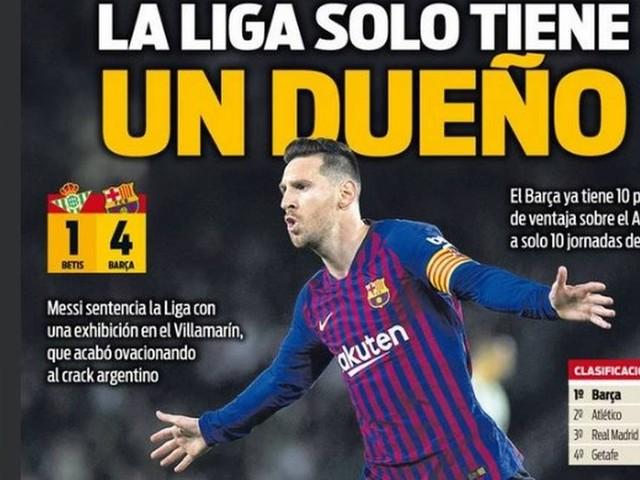 Messi é exaltado por jornal espanhol após novo show
