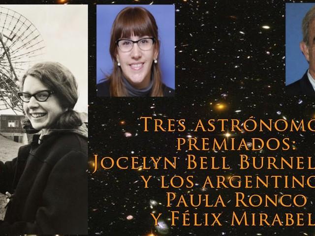 Premiaron a Jocelyn Bell Burnell y a dos astrónomos argentinos