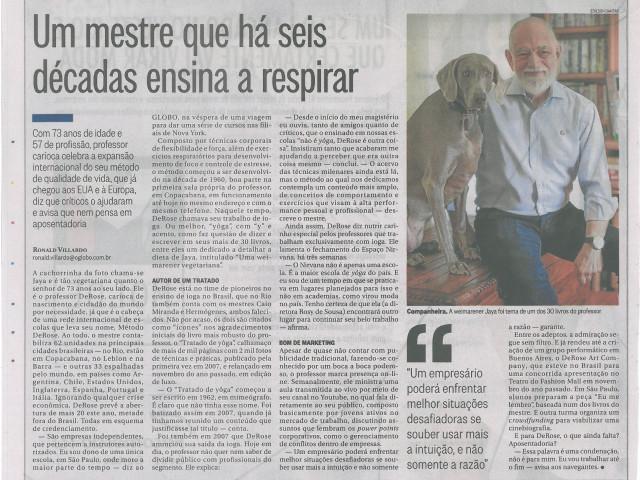 Reportagem do Ronald Villardo no jornal O Globo em abril de 2017