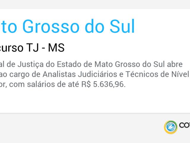 Concurso TJ - MS