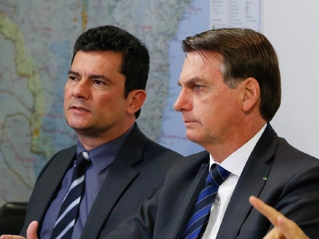 """""""Se o senhor não pode ajudar, por favor, não atrapalhe"""", disse Bolsonaro a Moro"""