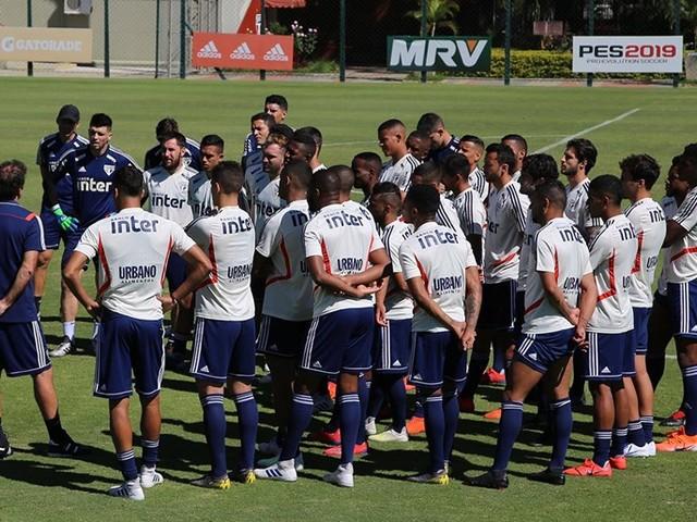Veja fotos do último treino do São Paulo antes da final do Paulistão