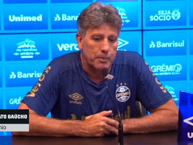Renato Gaúcho 'enche a bola' de Thiago Neves