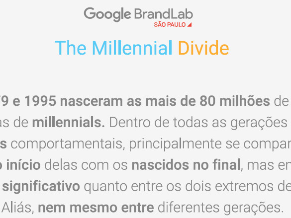 Geração Millenials: Nativa na Web
