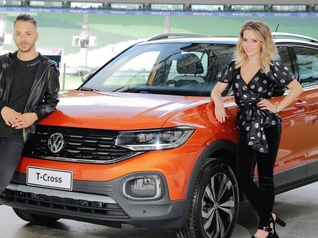 Volkswagen T-Cross é o carro oficial da turnê de 30 anos da dupla Sandy & Junior