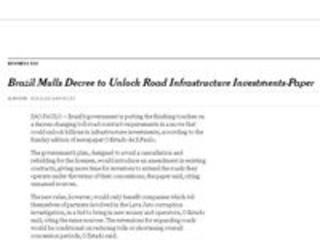 'NYT': Brasil pode derrubar decreto que bloqueia investimentos em rodovias