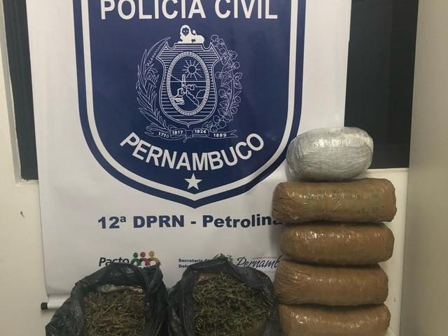 Polícia prende homem em flagrante com 7 kg de maconha no Jardim Maravilha em Petrolina