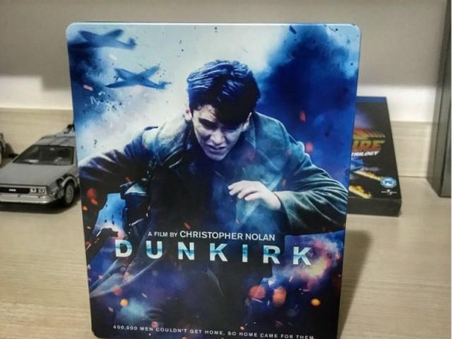 Fotos do SteelBook de DUNKIRK em Blu-ray no Brasil
