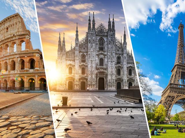 Europa 3 em 1! Passagens para Roma e Milão mais um destino entre Amsterdã, Londres, Paris e Frankfurt a partir de R$ 2.530!
