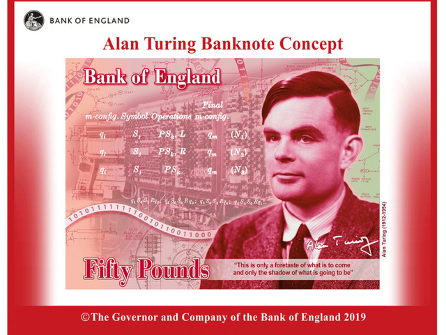 Alan Turing será o novo rosto da nota de 50 libras no Reino Unido