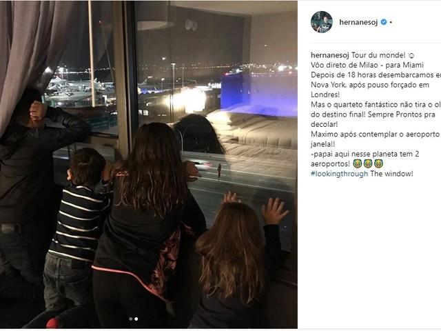 """Avião de Hernanes faz pouso forçado em Londres """"Probleminha na asa"""""""