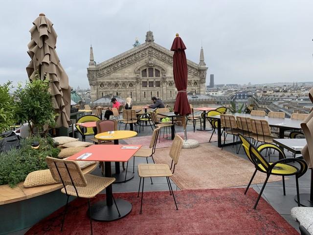 Créatures, restaurante no terraço das Galeries Lafayette