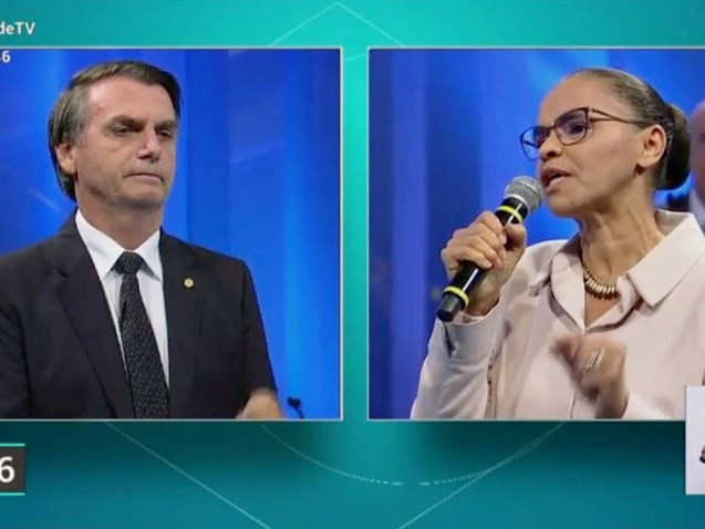 Marina Silva dá pito em Bolsonaro