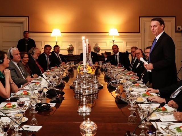 "Bolsonaro tem ""profundo orgulho"" do povo americano"