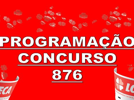 Loteca 876 programação grade dos jogos