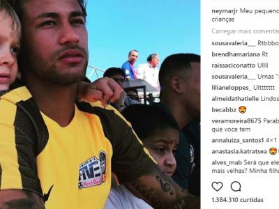"""Neymar posta homenagem ao filho no Dia das Crianças: """"meu pequeno"""""""