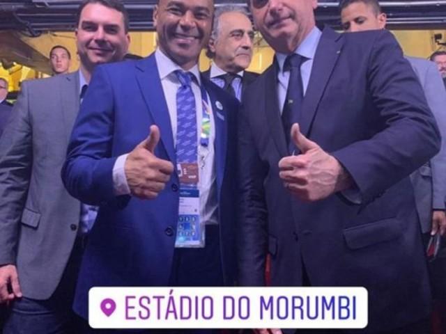 """Cafu tieta Bolsonaro em abertura da Copa América: """"Mito"""""""