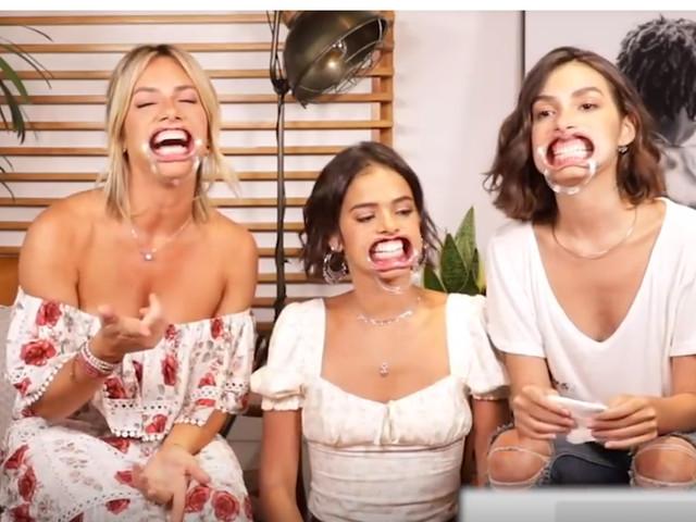 Giovanna Ewbank reúne Marina Moschen e Bruna Marquezine para participar de jogo cheio de revelações