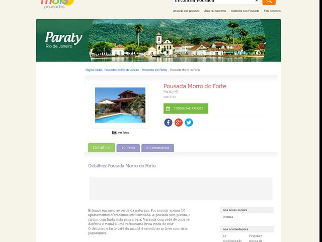 Pousada Morro do Forte - Paraty - RJ