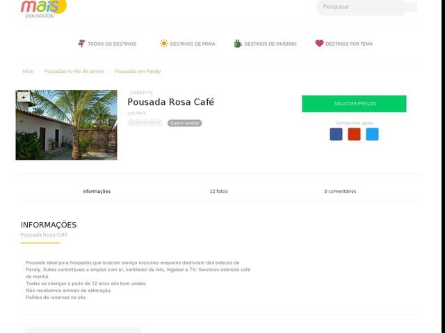 Pousada Rosa Café - Paraty - RJ