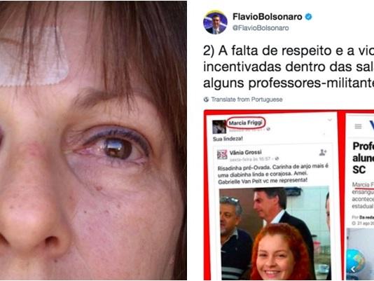 Fãs de Bolsonaro celebram espancamento de professora em sala de aula
