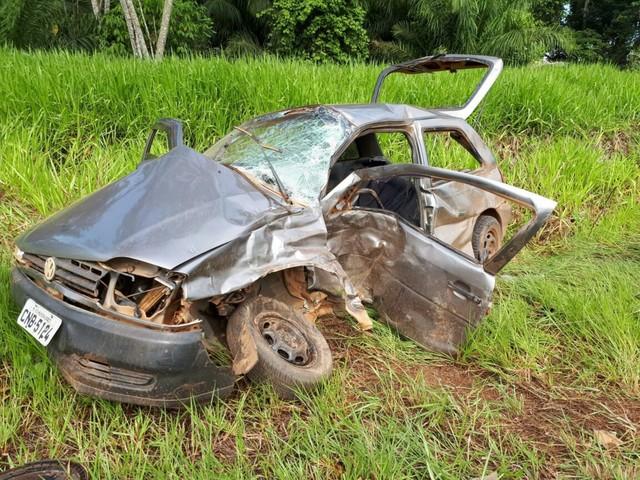 Acidente entre caminhonete e carro deixa quatro pessoas feridas em Alta Floresta, RO