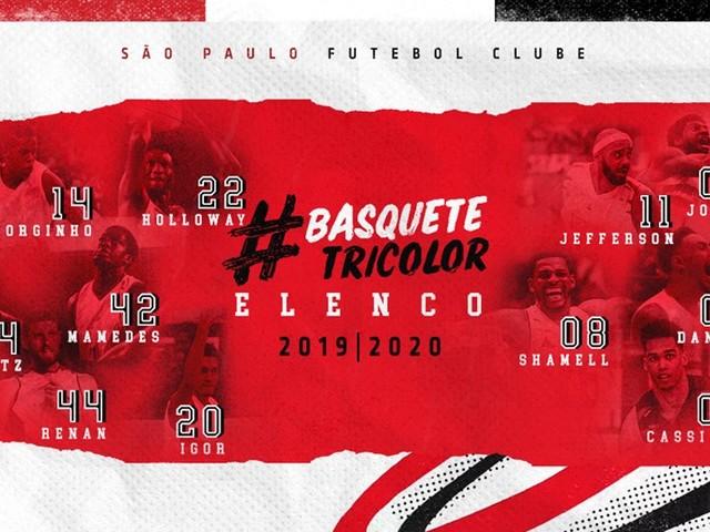 Com Shamell e Holloway, São Paulo apresenta elenco da equipe de basquete