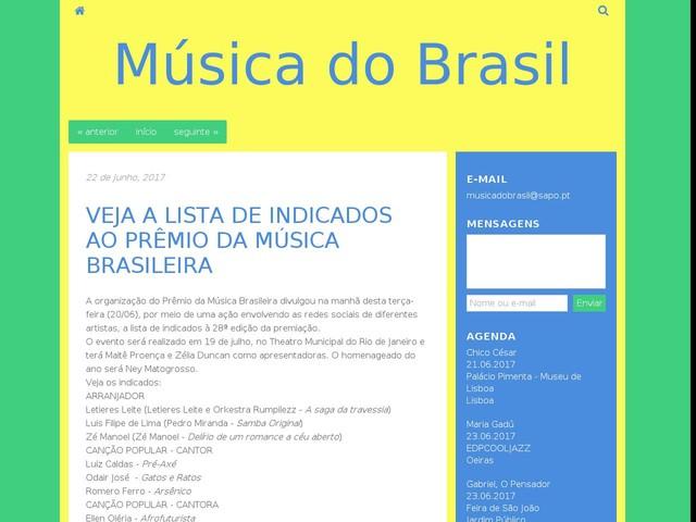 VEJA A LISTA DE INDICADOS AO PRÊMIO DA MÚSICA BRASILEIRA