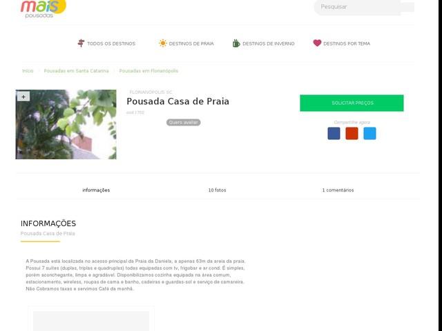 Pousada Casa de Praia - Florianópolis - SC
