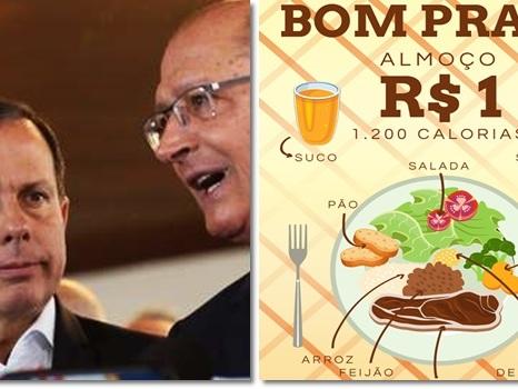 Alckmin manda indireta para Doria após a polêmica ração do prefeito
