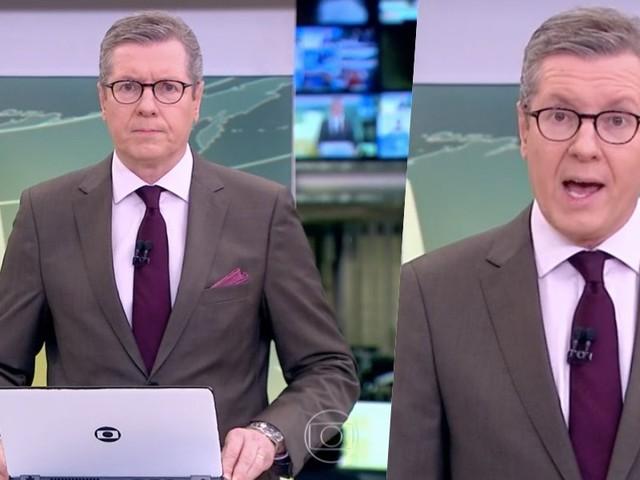 """Márcio Gomes inicia JH às pressas na Globo, levanta a caneta ao vivo e se desespera com notícia: """"Mais afetados"""""""
