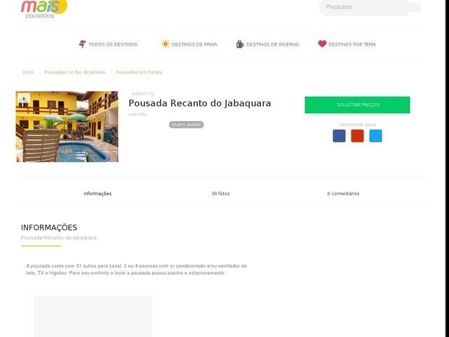 Pousada Recanto do Jabaquara - Paraty - RJ