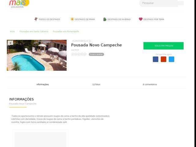 Pousada Novo Campeche - Florianópolis - SC
