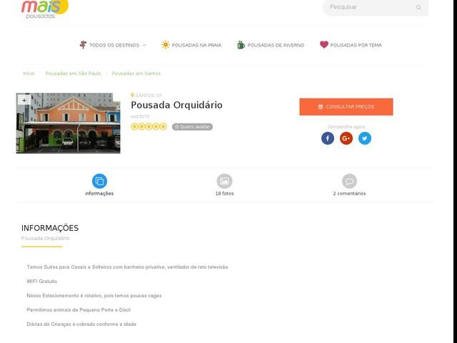 Pousada Orquidário - Santos - SP